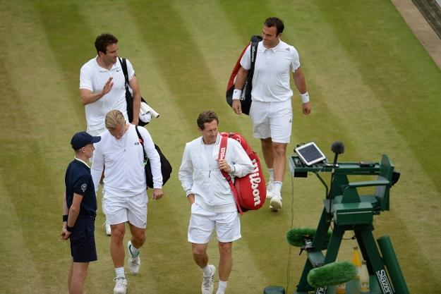 Jonas Björkman på Wimbledon 2015. Våren 2015 blev Björkman en del av Andy Murrays tränarteam.